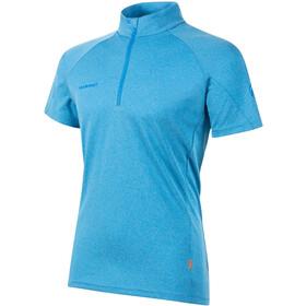 Mammut Aegility Puolivetoketjullinen T-paita Miehet, gentian melange